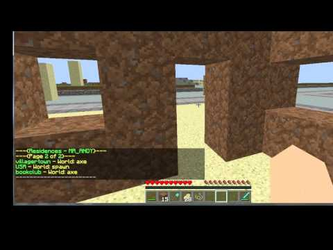 How To Use The Residence Plugin - WoodenAxe Minecraft