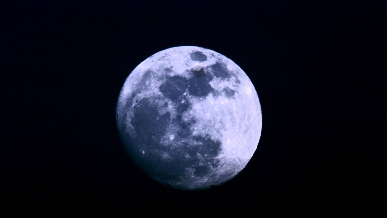 Close up of time lapse of full moon during day youtube - Moon close up ...