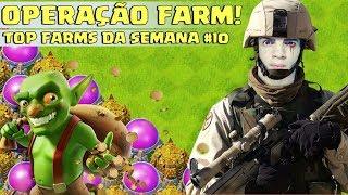 TOP FARMS DA SEMANA! SÓ FARM MONSTRO! CV8,CV9,CV10 E CV11 - RESUMÃO#10 CLASH OF CLANS