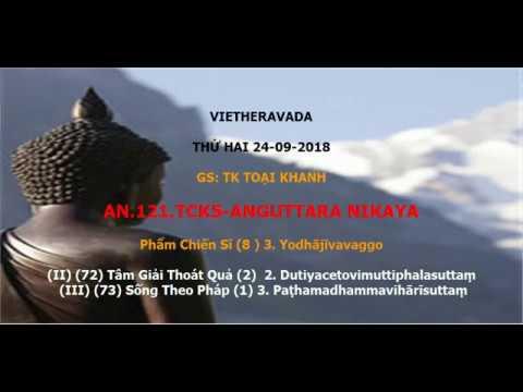 AN .121. TCK5.Phẩm Chiến Sĩ  3. Yodhājīvavaggo .B.72.73.Tk Toại Khanh 240918