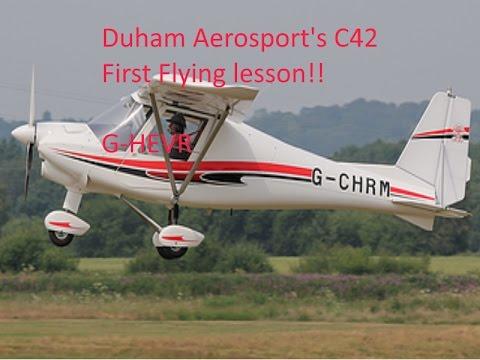 My first flying lesson with Durham Aerosports C42B