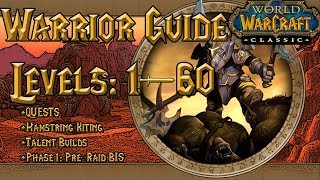 Comprehensive Classic Warrior Guide | PHASE 1: PRE-RAID BIS, Quests, Hamstring Kiting, & Talents |