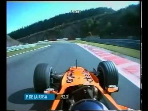 F1 pedro de la rosa spa 2000 pedal cam youtube for Https pedro camera it