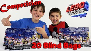 The LEGO Movie 2 Blind Bag Opening Challenge Between 2 Brothers