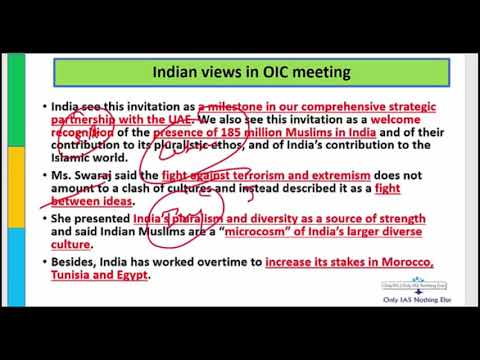 Organization Of Islamic Cooperation Meeting 5 March