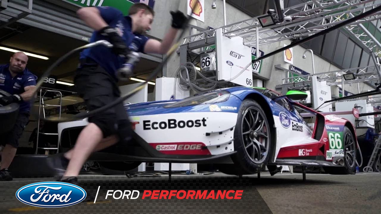 henry ticknell tours ford chip ganassi racing garage le mans ford performance youtube. Black Bedroom Furniture Sets. Home Design Ideas