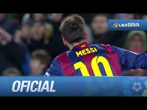 Golazo con rosca de Messi (3-2) FC Barcelona - Villarreal CF