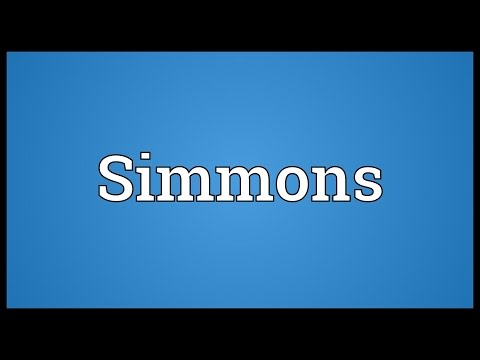 Simmons Meaning