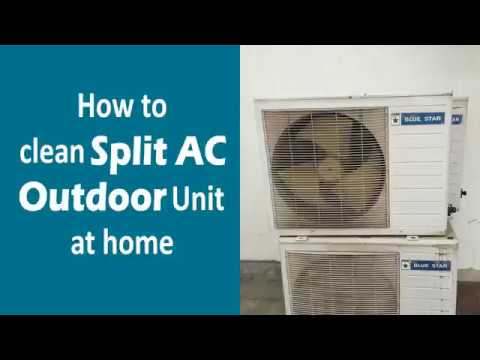 How to Clean Split Air Conditioner Outdoor Unit at Home | Step by Step guide in Bangla