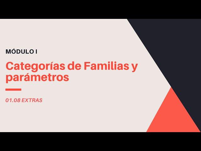 Familias en Revit 2020 | 08 02 Categorias de Familias y Parametros en Revit