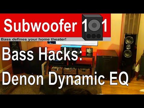 Bass Hack: Denon Dynamic EQ (Marantz, Restorer, Dynamic Volume