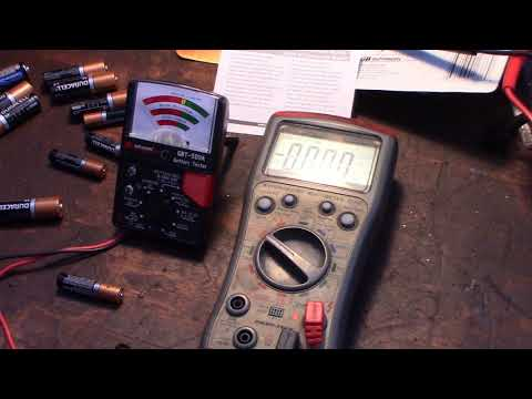 Testing AAA AA 9V coincell lithium batteries with GB instruments GBT500A VS Multimeter