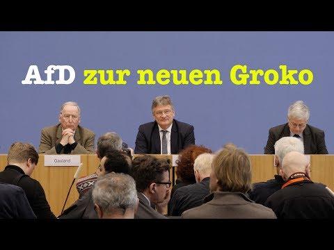 Alexander Gauland & Jörg Meuthen: AfD zum Koalitionsvertrag - BPK vom 12. März 2018