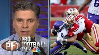 San Francisco 49ers physically dominate Minnesota Vikings in win | Pro Football Talk | NBC Sports