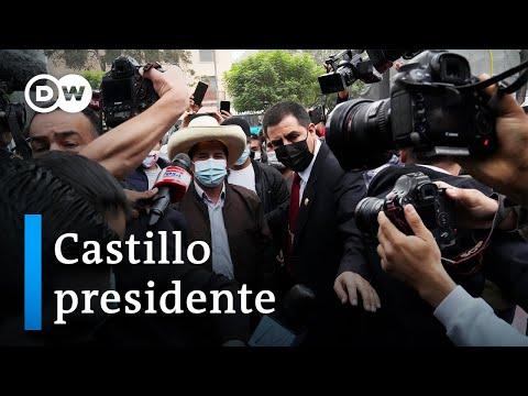 Pedro Castillo es oficialmente proclamado presidente electo de Perú