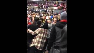Brawl in stands at Clipper-Bucks Game