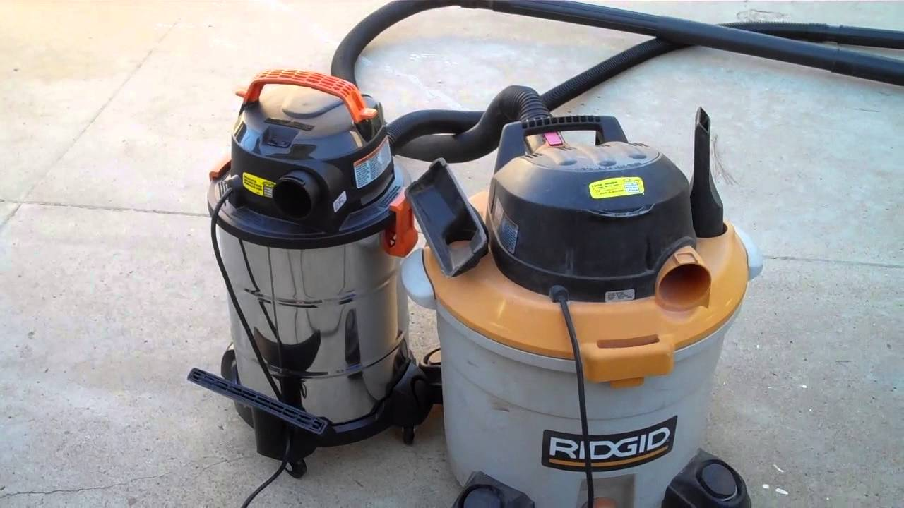 Comparing Ridgid 6 Gallon Stainless Steel Wet Dry Vacuum