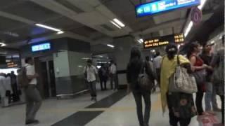 delhi metro -  to the trains
