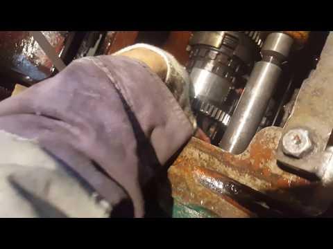 Станок 1а62 коробка скоростей снятие вала шпинделя
