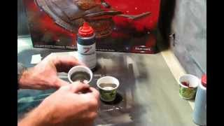 Polar Lights 1/350 Scale Enterprise NX-01 Buildup PT 1, Painting The Hull
