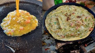 BIG EGG OMLET for Rs 12 | Bhurji Pav for Rs 15 | Indian Street Food