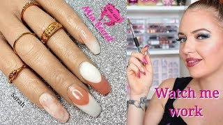 ACRYLIC NAILS MIA SECRET SMILE LINE FRENCH FADE BABY BOOMER ON POOCHIEZ NAILS SARAH | IdleGirl
