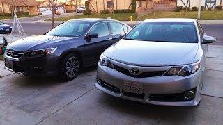 2013 Honda Accord Sport & 2012 Toyota Camry SE Family Car Comparison Pt. 1