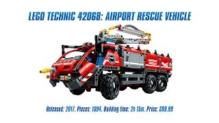 LEGO Technic 42068: Airport Rescue Vehicle In-depth Review & Speed Build [4K]