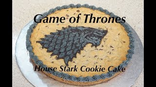 GAME OF THRONES COOKIE CAKE HOUSE STARK
