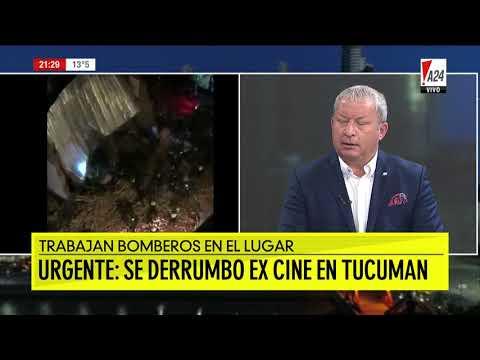 Derrumbe en Tucumán: al menos un muerto en un histórico ex cine de Tucumán