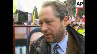 ITALY: IRANIAN DISSIDENTS STAGE ANTI KHATAMI PROTEST