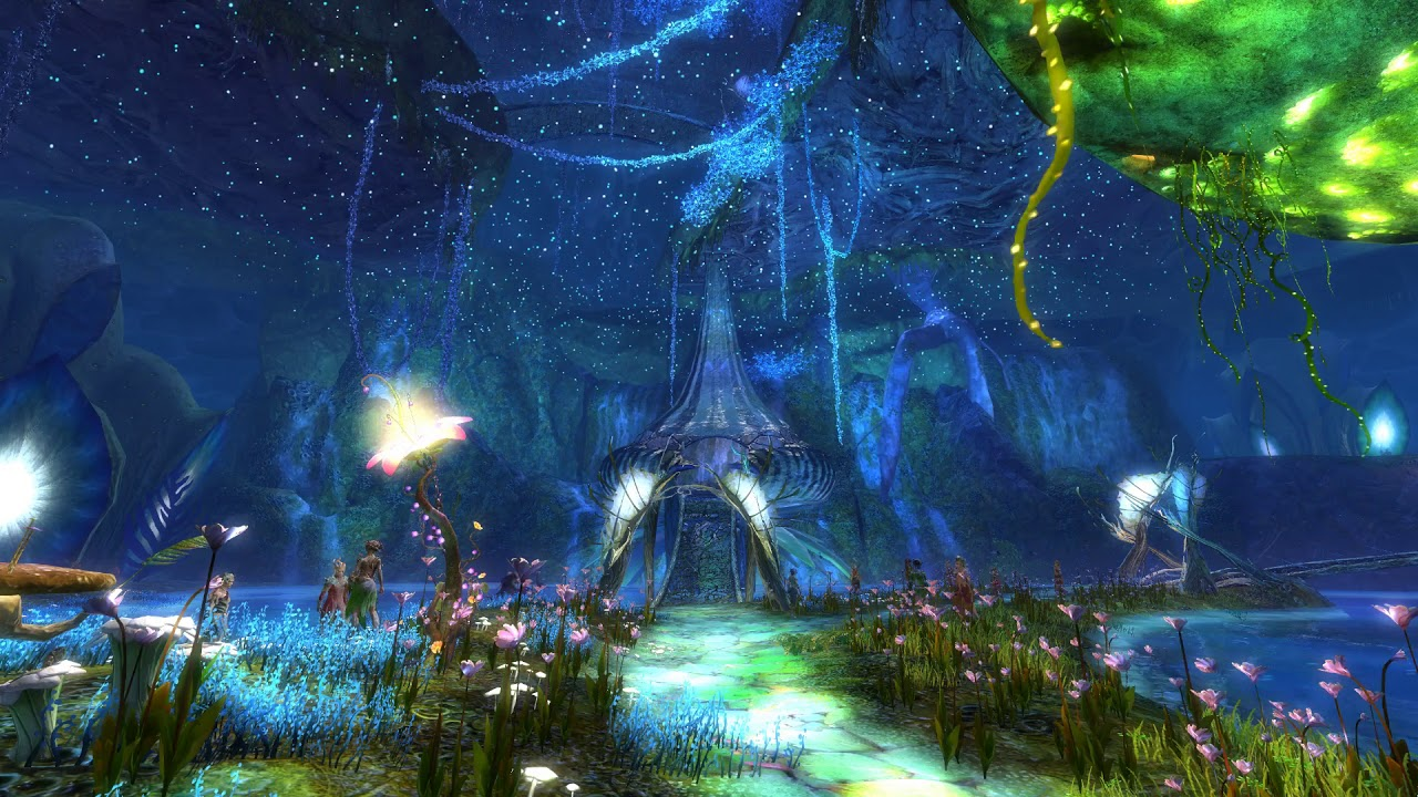 Guild Wars 2 The Grove Falls Live Wallpaper Youtube