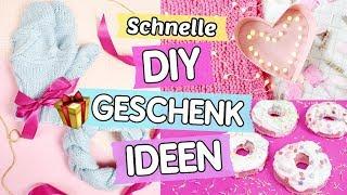4 schnelle & günstige DIY Geschenk Ideen ♥ Donut Badebomben 🍩, Herzlampe 💖 & Handschuhe