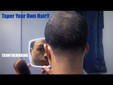 How To Taper Your Own Hair Neck Taper Cut Your Own Hair