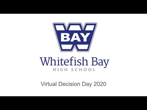 Whitefish Bay High School Decision Day 2020 (revision)
