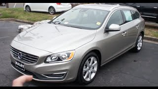 2016 Volvo V60 T5 Walkaround, Start up, Tour and Overview