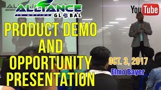 PRODUCT DEMO & OPPORTUNITY PRESENTATION Oct. 2, 2017 (AIM GLOBAL)