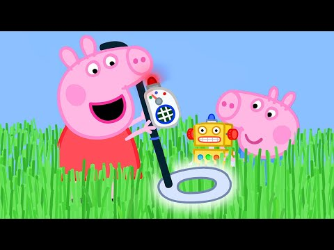 Peppa Pig Official Channel 🌟NEW SEASON 🌟Peppa Pig Uses a Metal Detector to Find George's Key