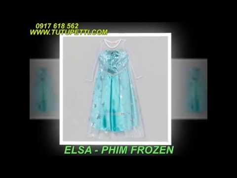 Các kiểu đầm Công chúa cổ tích cho bé: Bạch tuyết, Elsa, Lọ lem, Sofia, Tiara,...