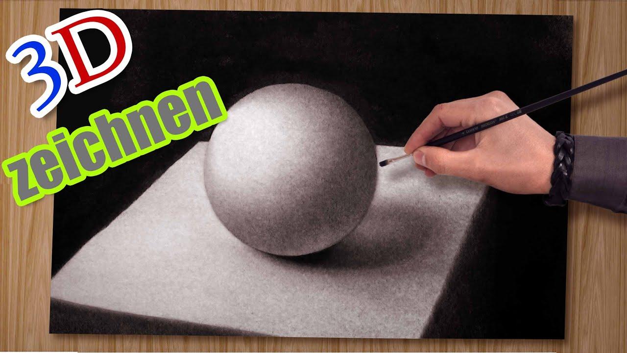 3d Zeichnen Malen Kugel Illusionsmalerei
