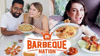 BARBEQUE NATION MUKBANG ft. ONLYONEGIULIA | FOREIGNER REACTION | TRAVEL VLOG IV