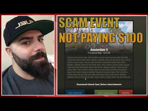 Keemstar SCAM event on RUST! Refusing to pay $100 thumbnail