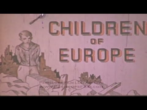 "POST WWII COLOR FILM ""CHILDREN OF EUROPE"" BY THEODORE ANDRICA 3439"