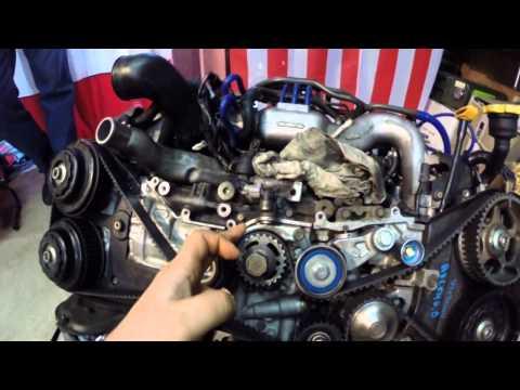 Фото к видео: Установка ГРМ на моторах Субару (EJ206-208, EJ205-207) Subaru Legacy Blitzen 2002