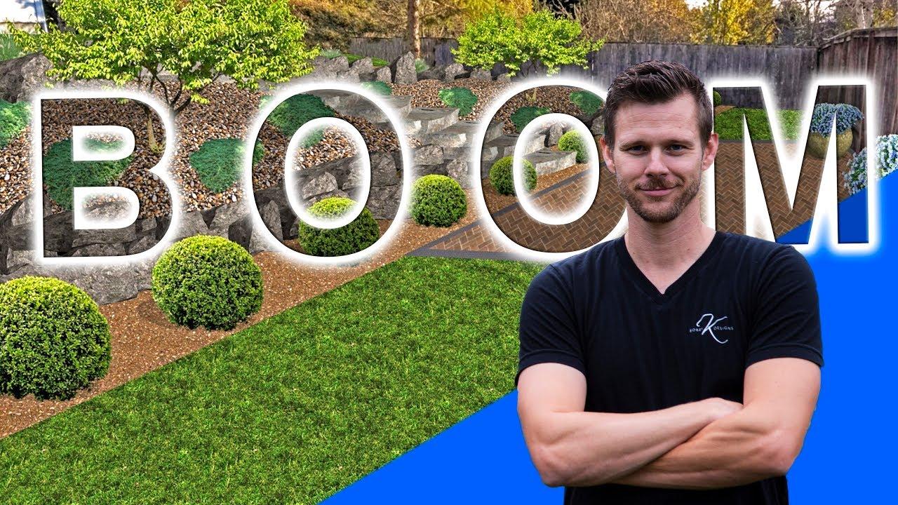 How To Landscape Backyard Hillside Bobby K Designs Youtube