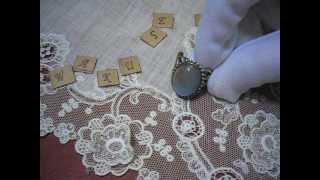 ~サフィレットの指輪~ オーバルXL  魔法の国の宝石(ガラス)