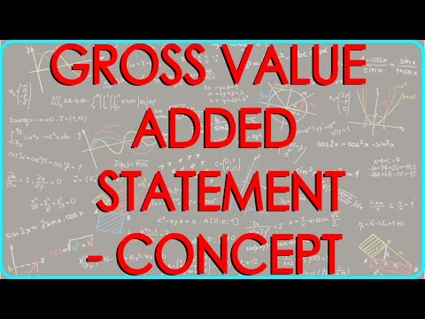 CA Final | Gross Value Added Statement - Concept