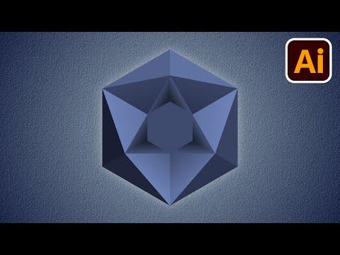 Best logo design | 3D logo design | Polygon | Adobe illustrator tutorials | 037 thumbnail