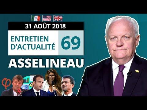 EA69 : Hulot - Gaulois - Loi Schiappa - Décret Valls - FI - Italie - États-Unis - Royaume-Uni