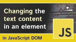 textContent - Javascript DOM